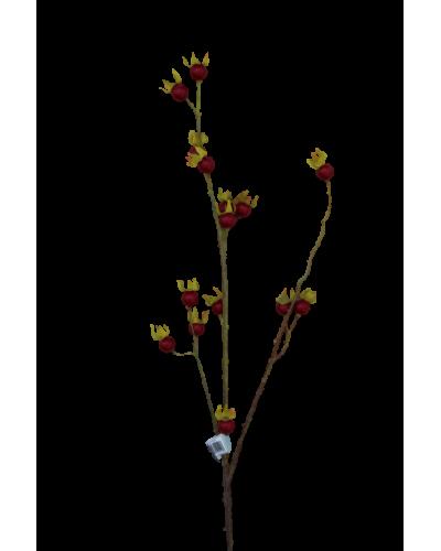 Sztuczna Gałąź Owoce Dzikiej Róży 75 Cm