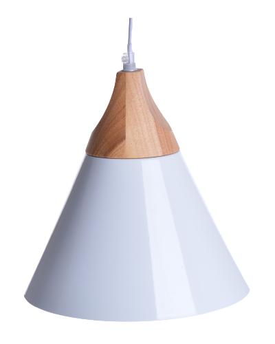 LAMPA Z DREWNEM WISZĄCA