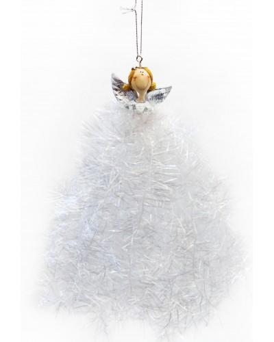 Zawieszka Anioł Biało-Srebrny
