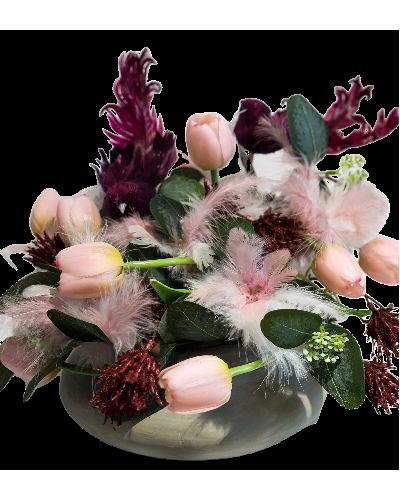 Kompozycja Tulipany W Piórkach Ole