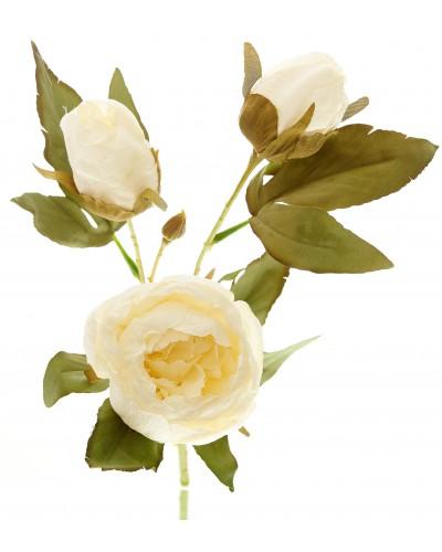 Piwonia Kwiat Sztuczny Kremowy