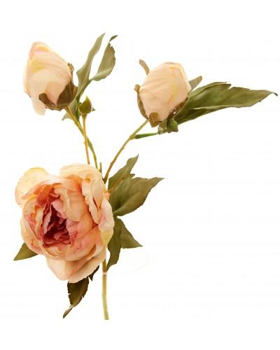 Piwonia Kwiat Sztuczny Różowy