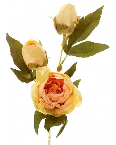 Piwonia Kwiat Sztuczny Łososiowy