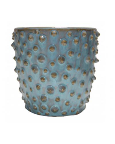 Doniczka osłonka ceramiczna NIEBIESKA 10cm