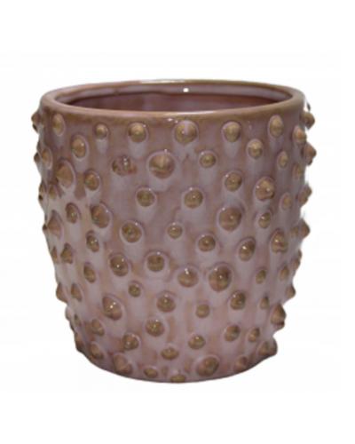Doniczka osłonka ceramiczna RÓŻOWA 10 cm