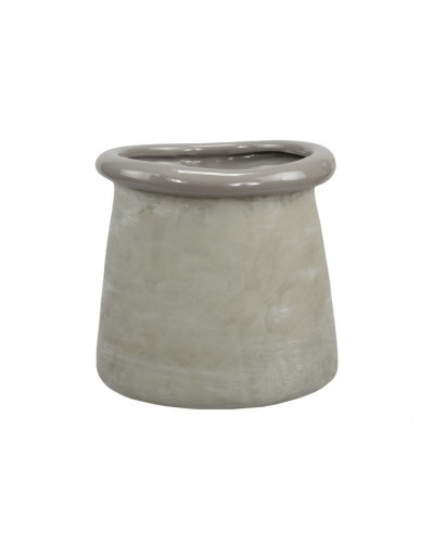 Doniczka osłonka betonowa BEŻ 15,5 CM