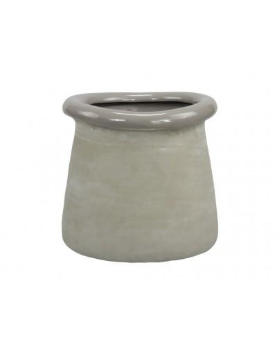 Doniczka osłonka betonowa BEŻ 13,5 CM