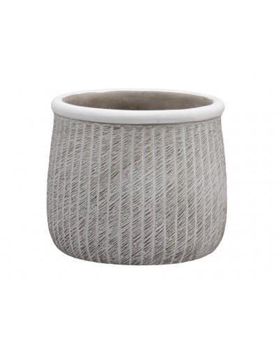 Doniczka osłonka cementowa prążkowana 13 cm