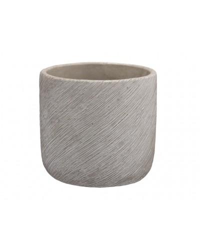 Doniczka osłonka cementowa skośnie prążkowana 11 cm