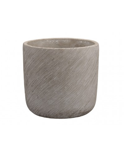 Doniczka osłonka cementowa skośnie prążkowana 14 cm