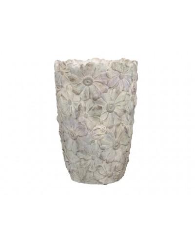 Doniczka osłonka wazon cementowy KWIATOWY 25 cm