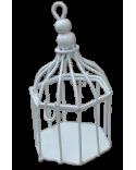 LAMPION KLATKA BIAŁA 10 CM