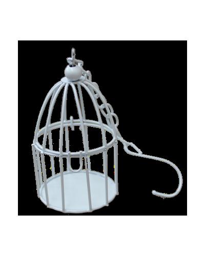LAMPION KLATKA Z ŁAŃCUSZKIEM DO POWIESZENIA